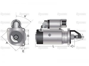Electromotor combina